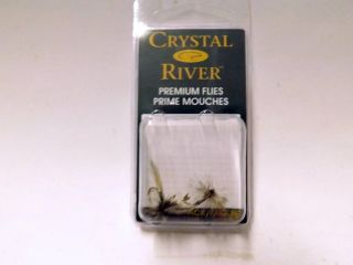Crystal River Trout Flies CR108-12 Sz 12 Mosquito Qty 2