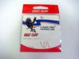 Eagle Claw Leader Links LL1 Tapered Leader Qty 5