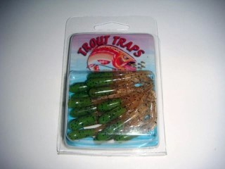 Trout Traps 'Mini-Tube Jigs' 2TT10 1/32 Oz Brown/Clear Sparkle Qty 15