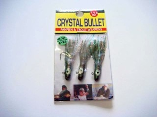 Killer Baits Crystal Bullet CB11607GnPum 1/16 Oz Green Pumpkin Qty 3