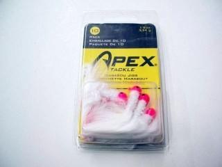 Apex Marabou Jigs MJ-1/8-PKW/A 1/8 Oz White/Pink Qty 10