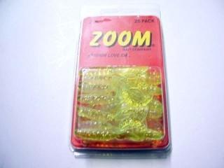 Zoom Unrigged Grubs UG-2-CHCL/Z 2' Chart/Glitter Qty 25
