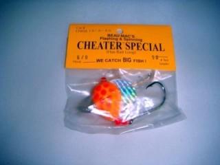 Beau Mac's Cheater Special 12-2-50 Sz 6/0 50lb Rigged Orange Clown