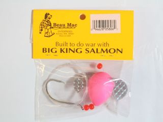 Beau Mac's Cheater Special CHFSS5-2-30 Sz 6/0 30 lb Rigged Flo Pink