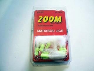 Zoom Marabou Jigs MJ-32-CHRD/Z 1/32 Oz Chart Qty 10