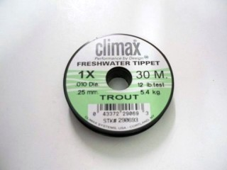 Climax Freshwater Tippet Trout 1X 12lb 30 Meters
