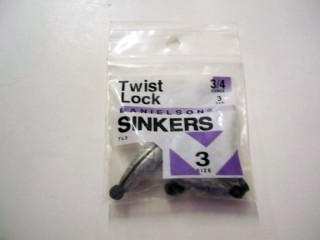 Danielson Twist Lock Sinkers Sz 3 3/4 Oz Qty 3