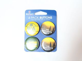 Wincraft 4 Pack Buttons Washington