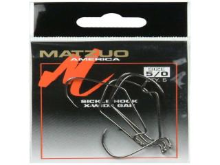 Matzuo Wide Gap Sickle Hook 143011 Sz 5/0 Black Chrome Qty 5