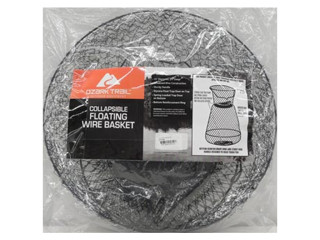 Outdoor Angler Collapsible Floating Wire Fishing Basket-Black