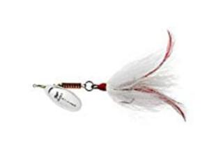 Mepps Musky Killer BM S-W 3/4 Oz Silver Blade White Tail