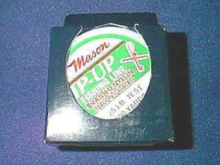 Mason mason tip up ice fishing line braided nylon teflon for Ice fishing tip up line