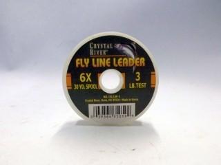 Crystal River Fly Line Leader CR/LW-3 6X 3lb 30yds