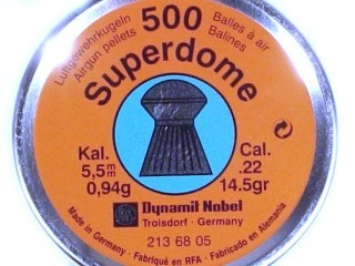 Dynamil Nobel RWS 500 pkg. Airgun ' Superdome ' Pellets Cal. .22/5.5mm 14.5gr. 213 68 30