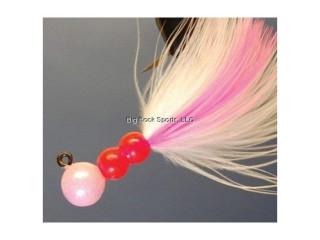 Beau Mac's Marabou Steelhead Jig Sz:1/0 1/4oz. Color: 002 Pearl Pink SMJ2