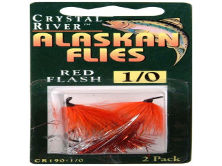 Crystal River Alaskan Flies 1/0 Red Flash Qty 2