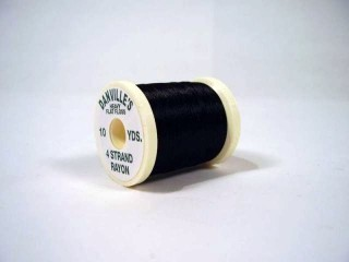 Danville's Heavy Flat Floss #100 4 Strand Rayon 10 yds Black