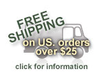 Free Shipping on U.S. Orders over $25