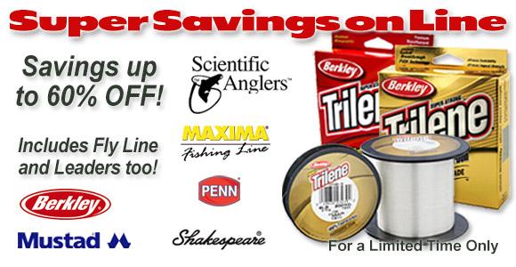 Huge Savings on all Fishing Line!