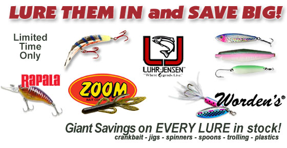 Save HUGE on ALL Fishing Lures in Stock!