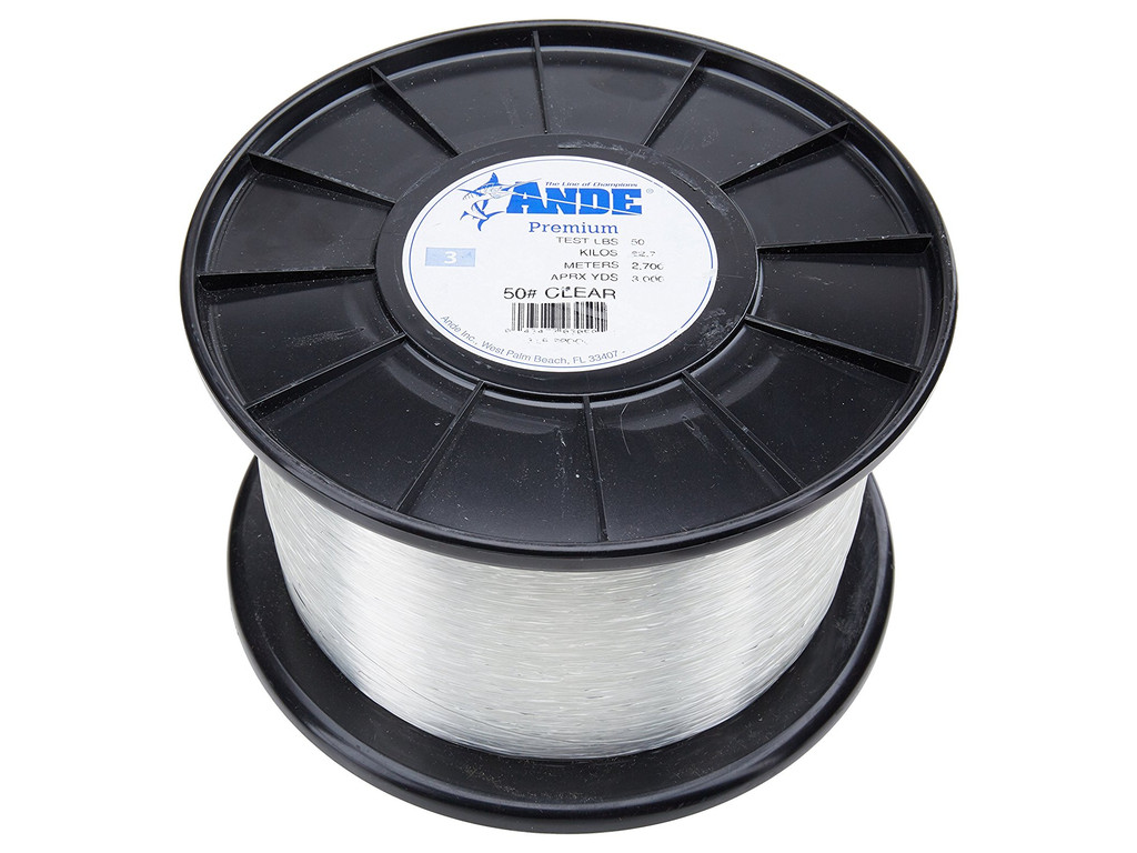 Ande monofilament premium 50lb clear 250 yds for Ande fishing line