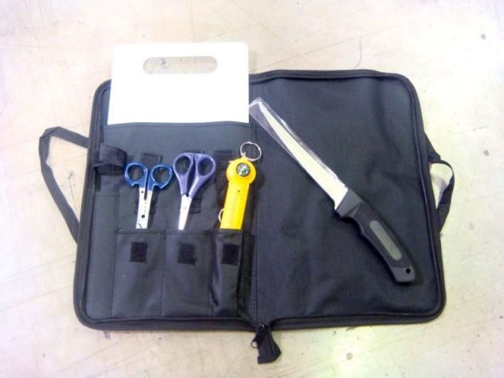 Sona fish cleaning kit fp 907 cutting board fillet knife for Fish cleaning kit