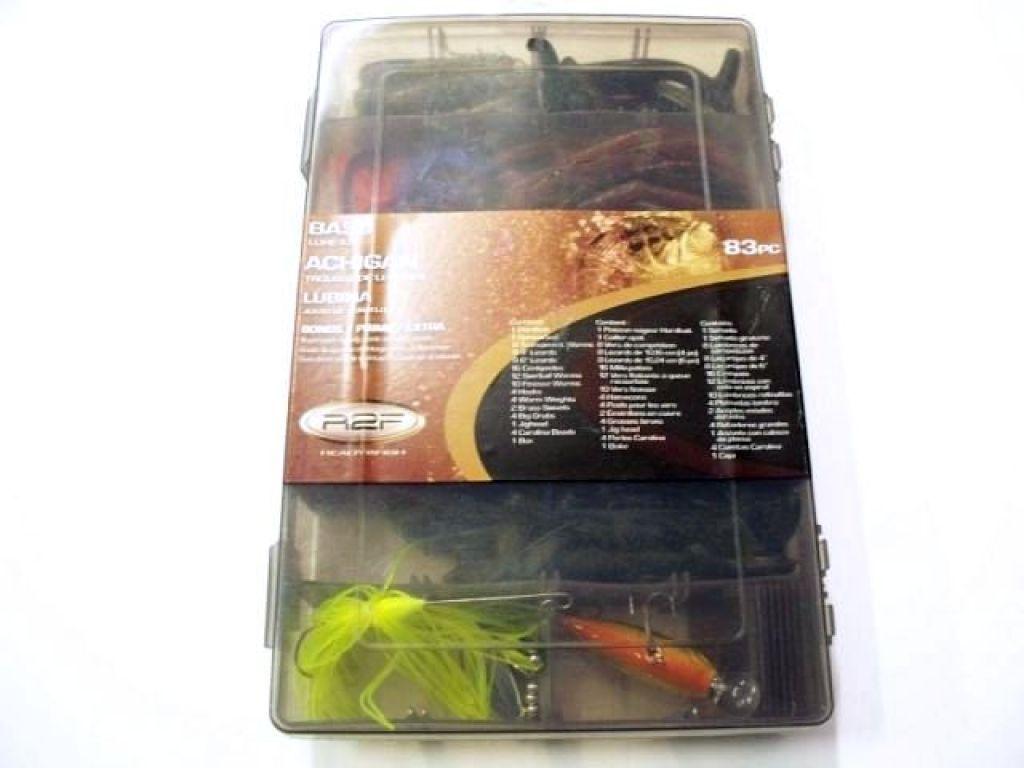Ready2fish bass lure kit 83 pcs fishing lures misc for Bass fishing kit
