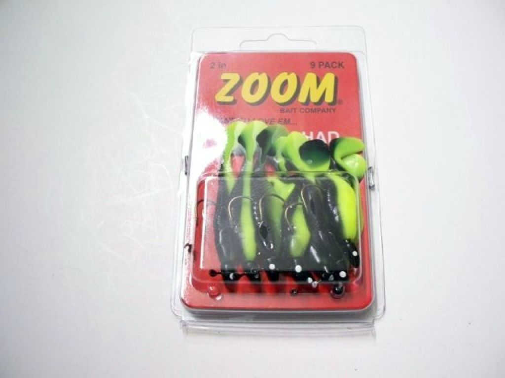Zoom rigged paddle tail shad rgt 16 blkc z 1 16 oz black for Zoom fishing lures