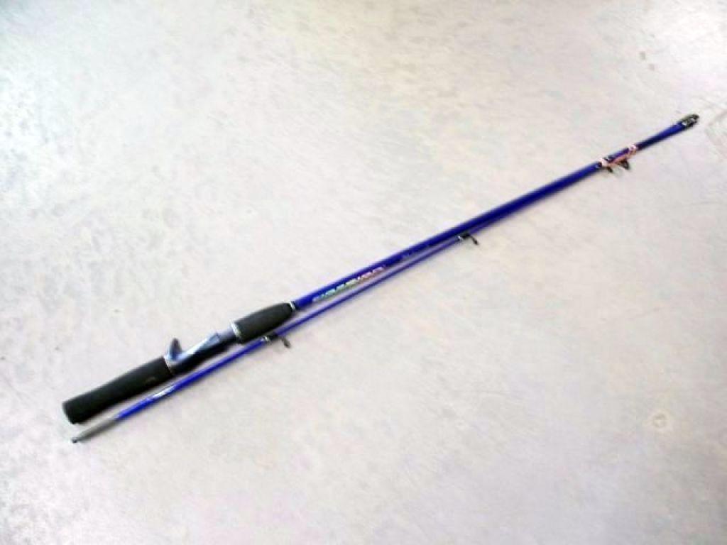 Shakespeare firebird sc14562m 5 39 6 med 6 10lb 2 pc blue for Blue fishing rod