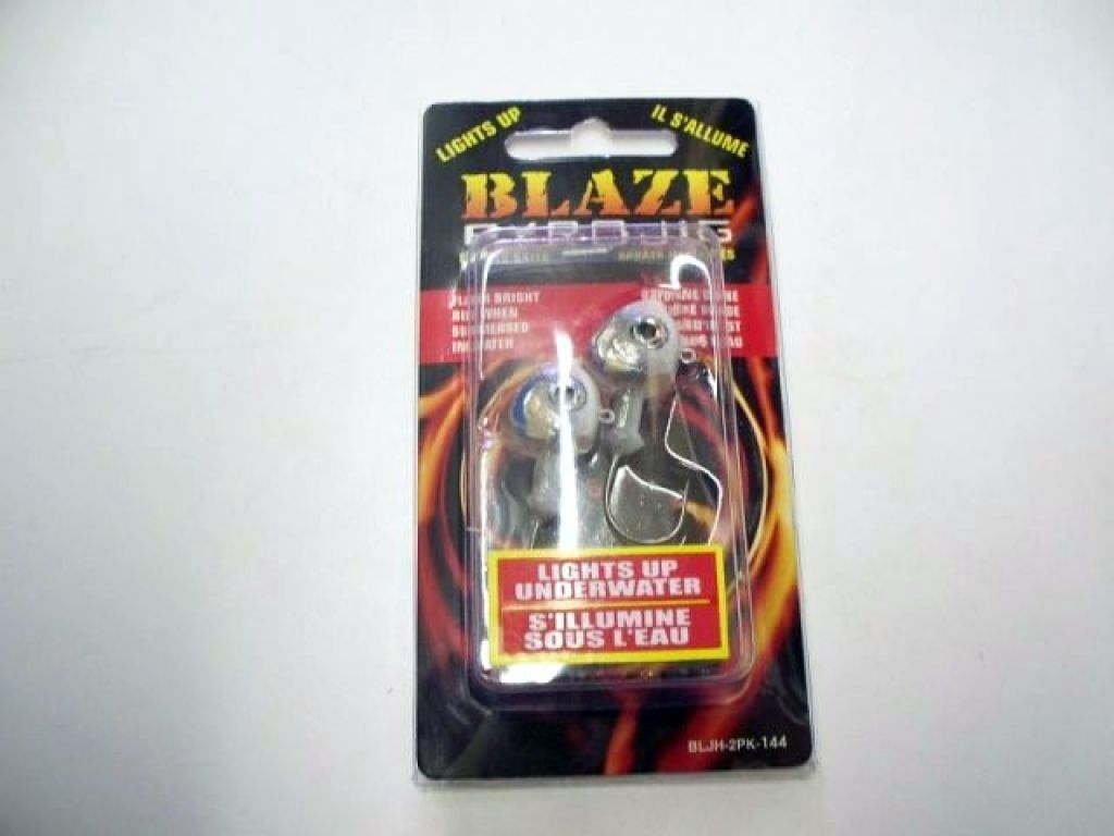 Blaze lures pyro jig bljh 2pk shad qty 2 lights up for Light up fishing spinners