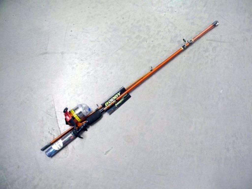 Roddy hunter led combo 5 39 6 med 6 14lb spincast orange 2 for Roddy hunter fishing rod