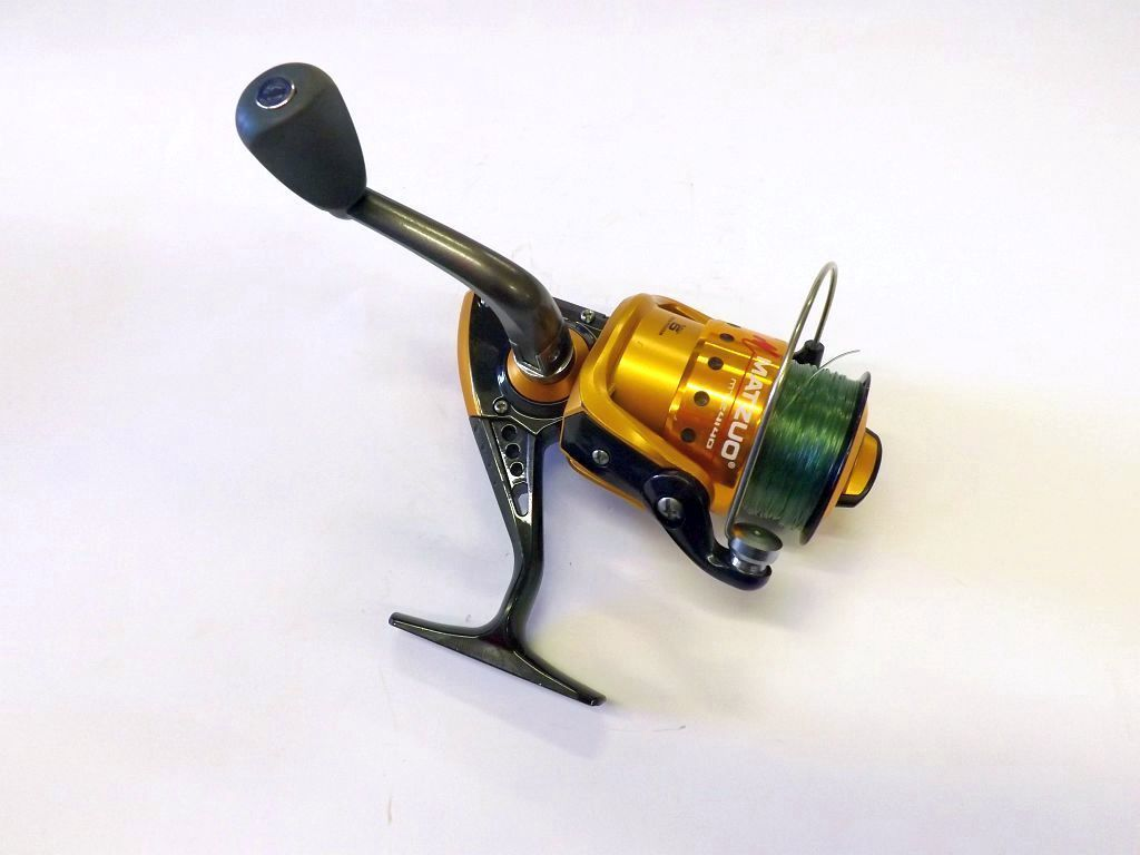 Matzuo mtz4140 upgraded one touch handle fishing reels for Matzuo fishing rod