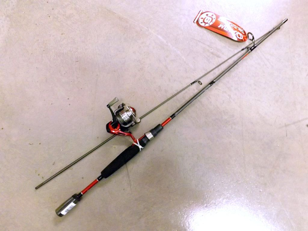 Quantum valiant vals502ul gwg 5 39 ultralight 2 6lb 2pc for Cheap fishing rods and reels combo