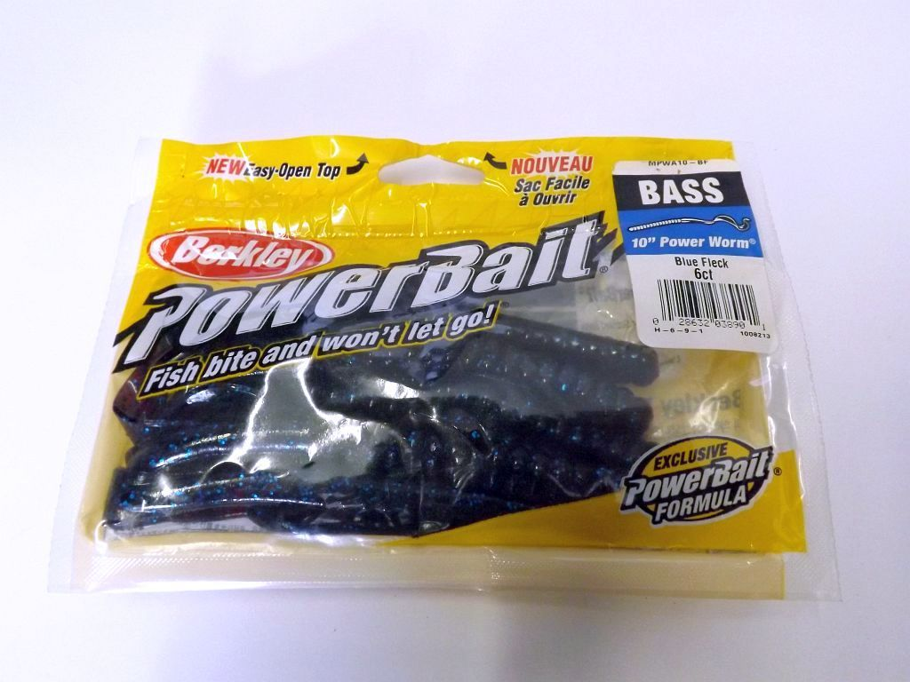 Berkley Power Worm Blue Fleck Berkley Powerbait Power Worm