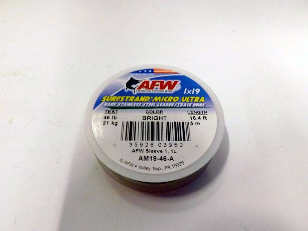 American fishing wire surfstrand micro ultra bare 1 x 19 for American fishing wire