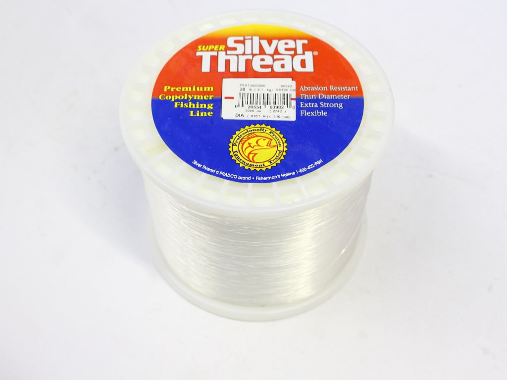 silver thread super 20lb 3000yds clear newly added items