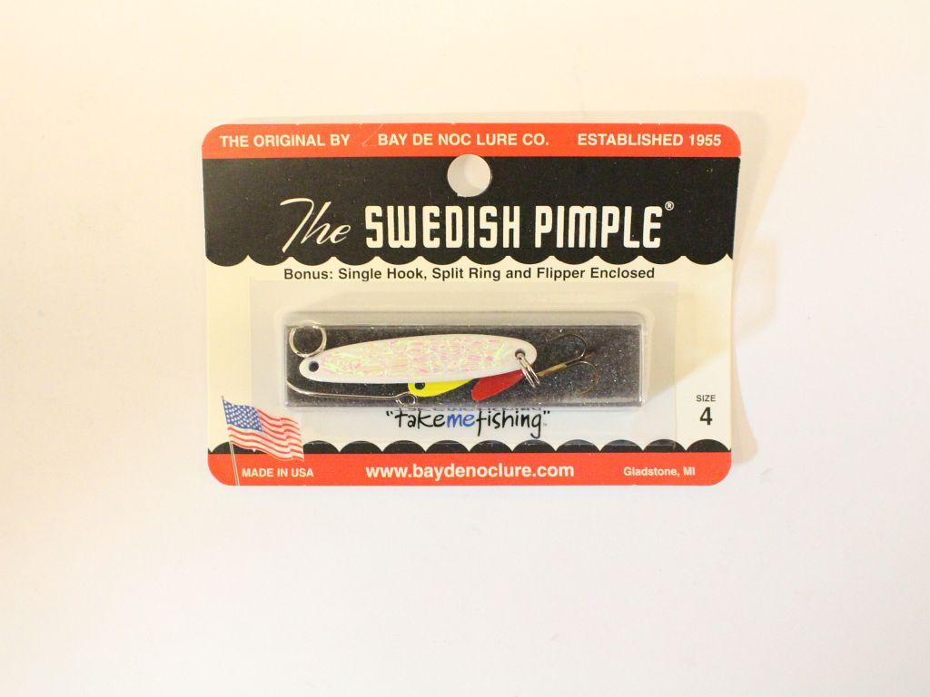 Swedish pimple white ice 1 4 oz fishing lures jigs for Swedish pimple ice fishing