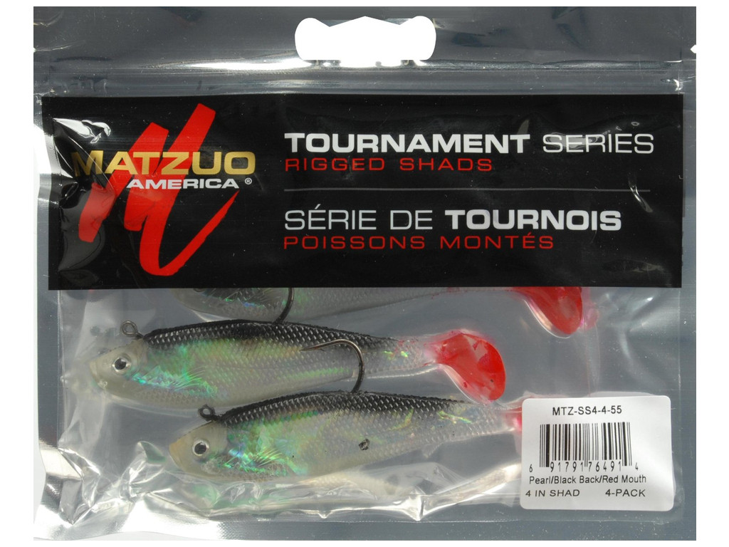 Matzuo swim shad mtz ss4 4 55 4 pearl black back red for Matzuo fishing rod