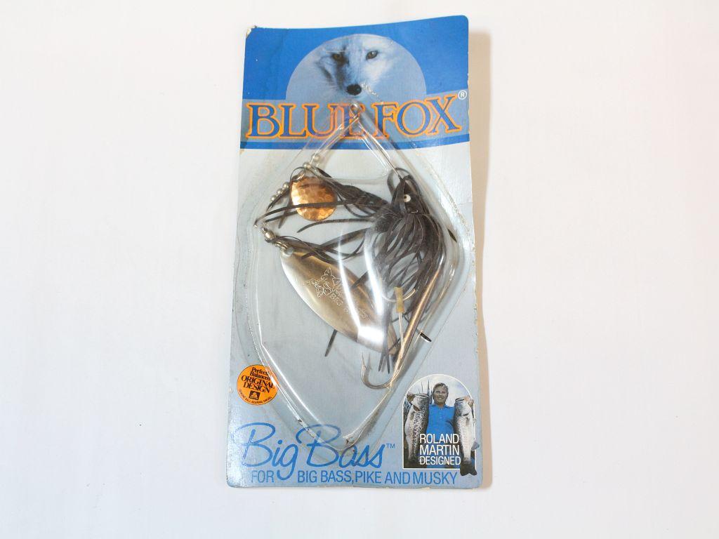 Blue fox vintage big bass spinnerbait 7 8 oz black for Blue fox fishing lures