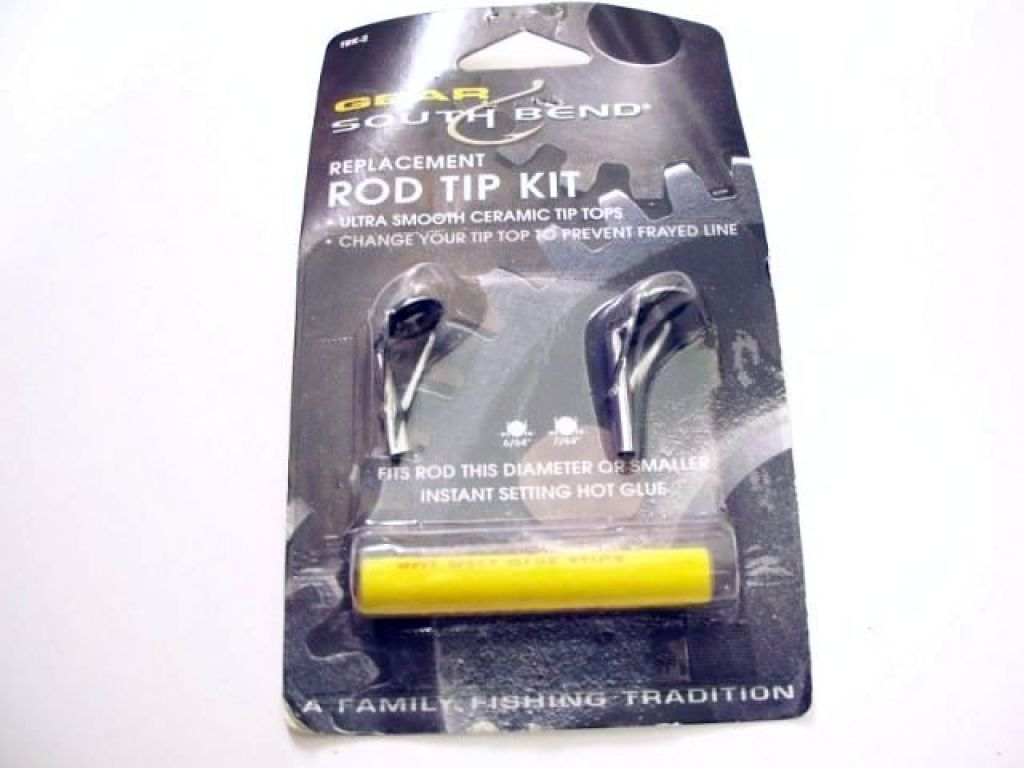 South bend replacement rod tip kit try 2 fishing tackle for Fishing rod tip replacement