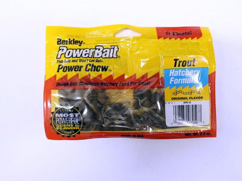Berkley powerbait power chow btpc o 2 oz hatchery for Trout fishing with powerbait