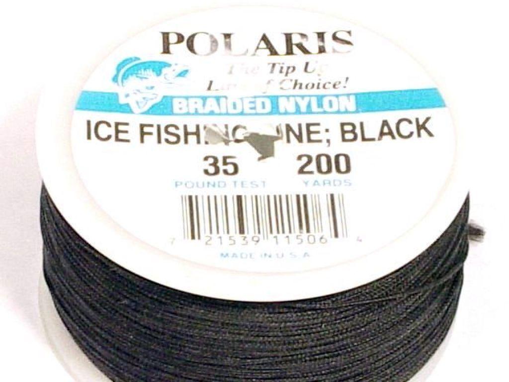Polaris braided nylon ice fishing line 35lb 200yds black for Braided ice fishing line