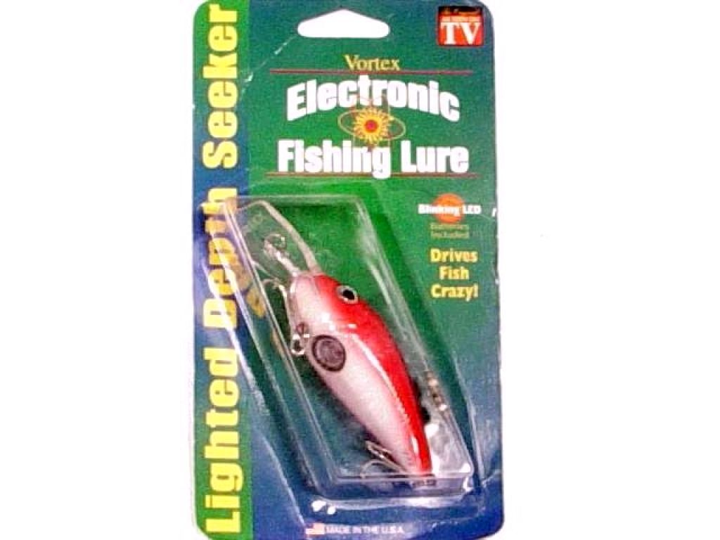 vortex electronic fishing lure v8 5 8oz red white