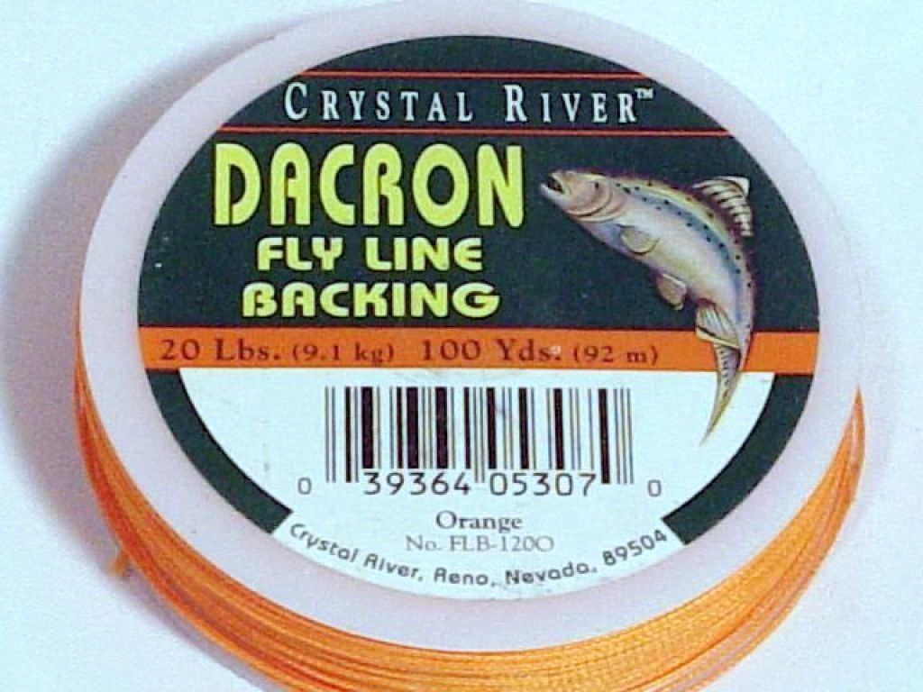 Crystal river dacron fly line backing 20lb 100yds for Fly fishing backing