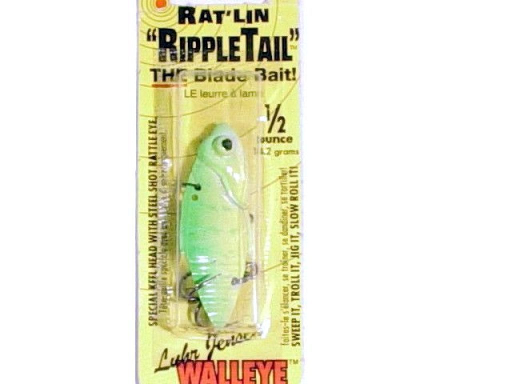 Luhr jensen rat 39 lin ripple tail 1 2oz cht flo green tg for Fish and save