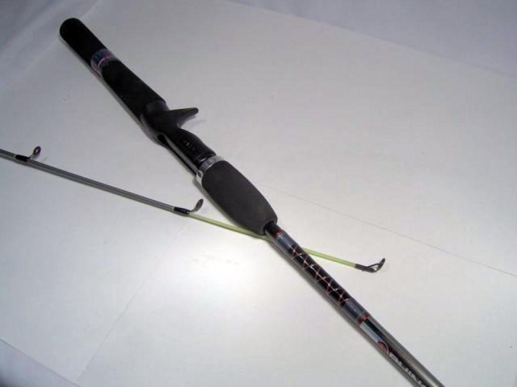 Zebco rhino rrc 602m 6 39 med 8 17lb 2pc glow tip for Rhino fishing rod