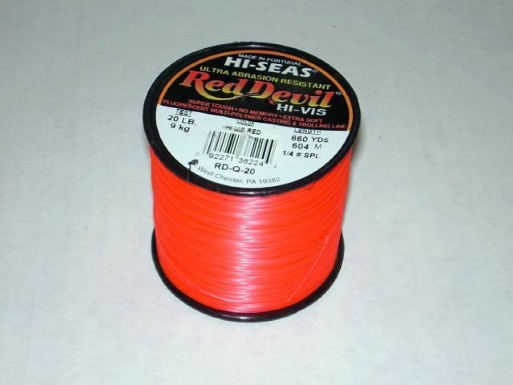 Hi seas red devil line 20lb test 660yds color for Hi seas fishing line