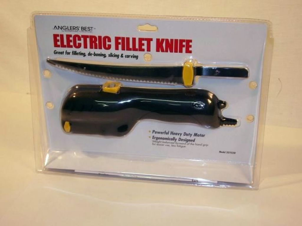 Anglers best fisherman 39 s electric fillet knife kit one for Best fillet knife for saltwater fish