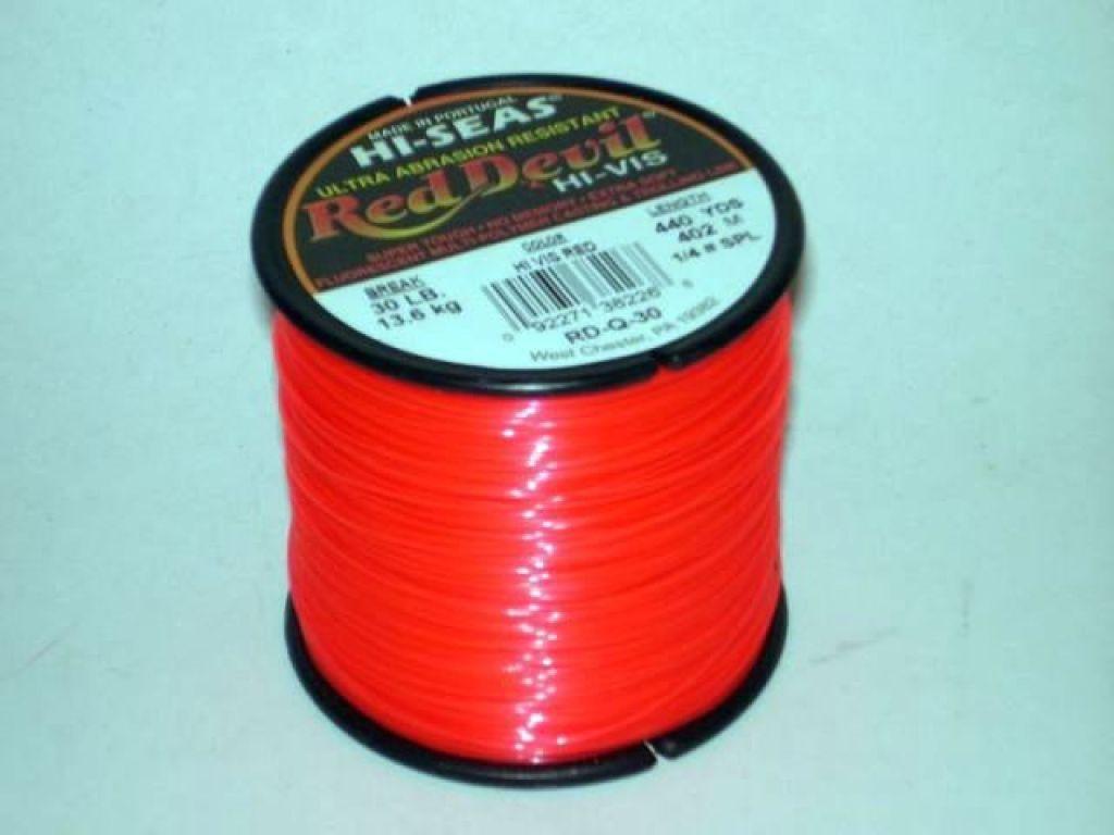 Hi seas red devil line 30lb test 440yds color for Hi seas fishing line