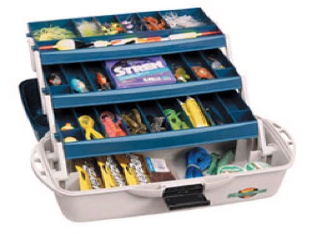Flambeau classic 1737b 3 tray tackle box accessories for Discontinued fishing tackle